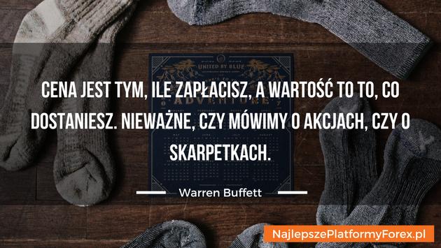 Warren Buffett cytat o skarpetkach