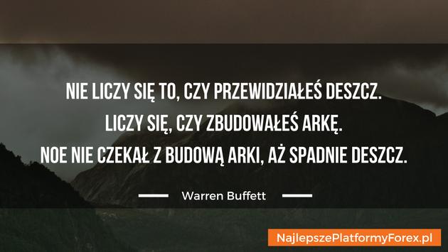 Warren Buffett cytat o Noe