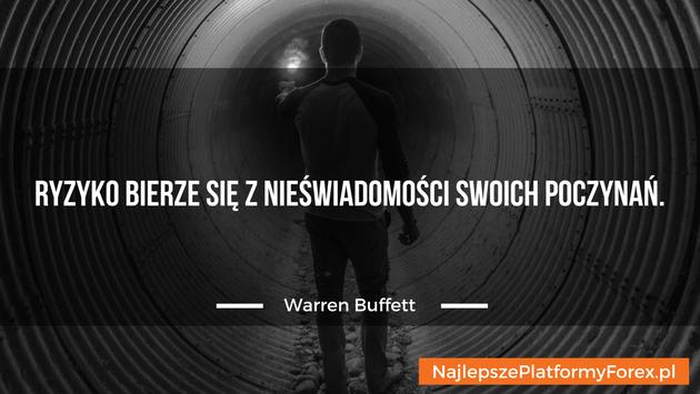 Warren Buffett cytat o ryzyku