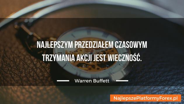 Warren Buffett cytat o trzymaniu akcji
