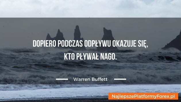 Warren Buffett cytat opływaniu
