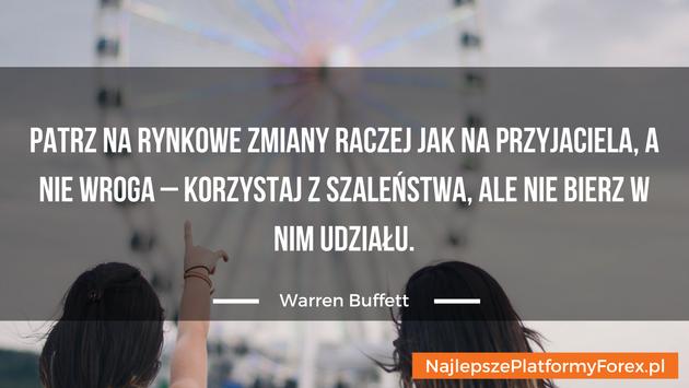 Warren Buffett cytat odystansie
