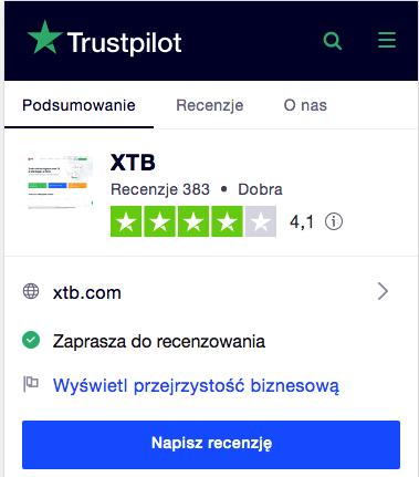 Xtb opinie trustpilot