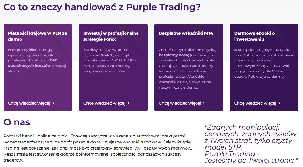 Purple trading opinie obrokerze